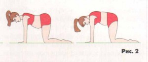 Гимнастика после родов - упражнение 2